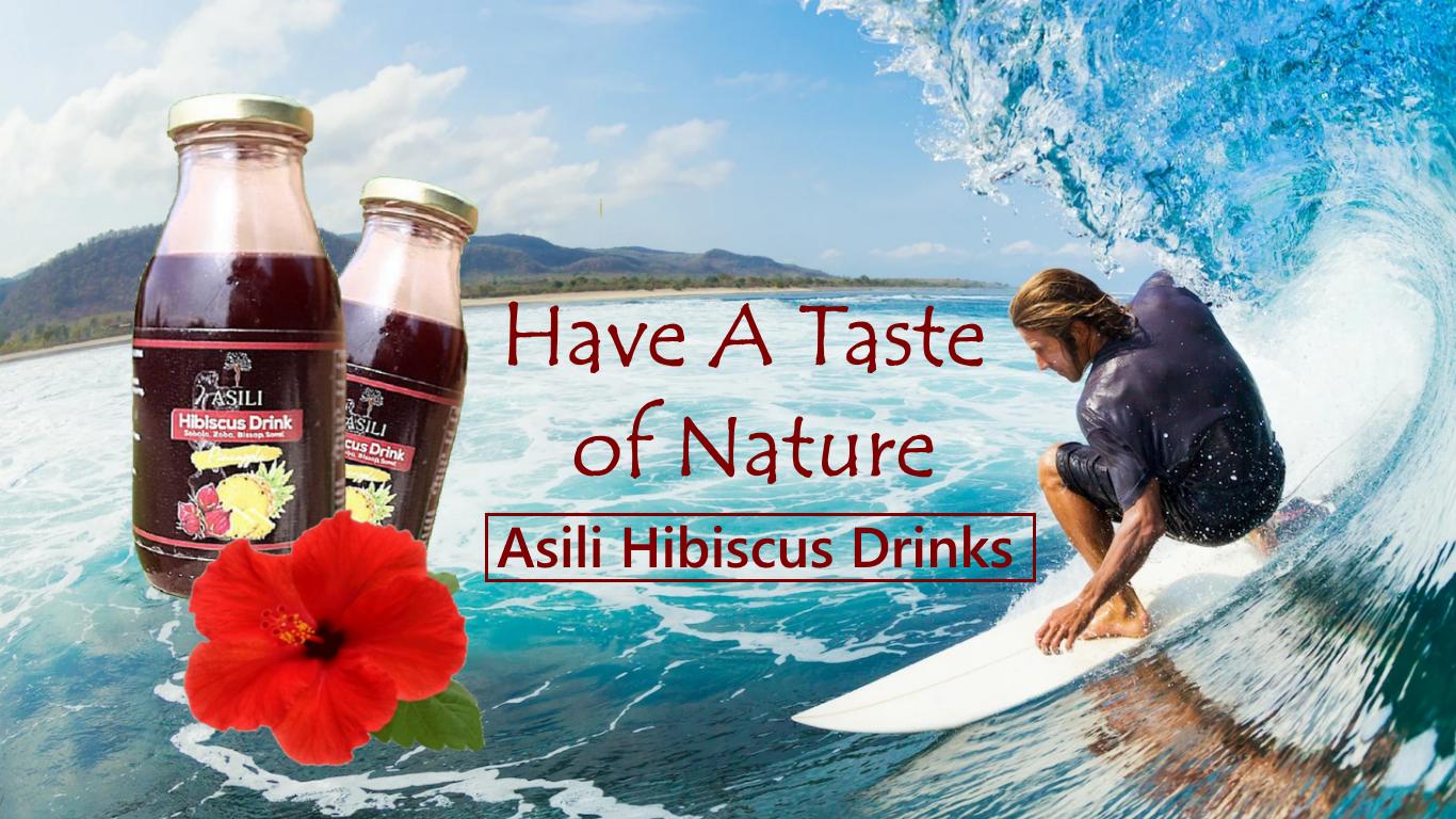 Slider Asili Hibiscus Drinks Bottle with Surfer