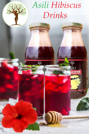 Hibiscus Tea in Glasses